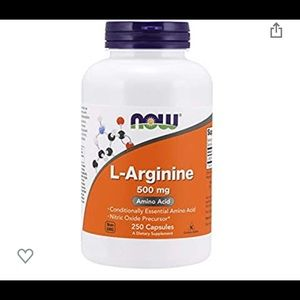 L-Arginine 500 mg Amino Acid, 250 Capsules
